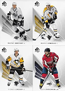 2017 2018 Upper Deck SP Authentic NHL Hockey Series Complete Mint Basic Hand Collated 100 Card Veteran Players Set Including Stars and Hall of Famers Wayne Gretzky, Patrick Roy, Sidney Crosby and More