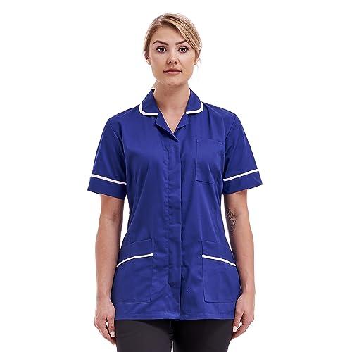 4d0a1d5939cdc Nurses Healthcare Tunic Round Collar Uniform Maid Housekeeper Beauty Uniform  Tunic size 8-22