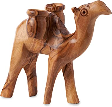 Earthwood Camel Olive Wood Figurine, Brown
