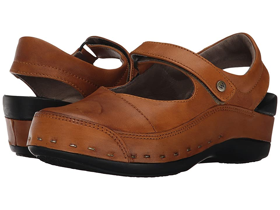 Wolky Strap Cloggy (Curry Vegi Leather) Women