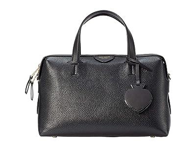 Kate Spade New York Taffie Medium Satchel (Black) Handbags