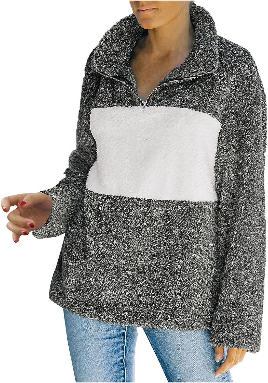 Misaky Women Long Sleeve Fleece-Fur Winter Warm Teddy Bear Jacket Coat Outwear Hoodies