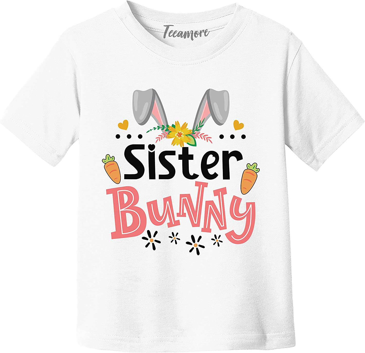 Sister Bunny Shirt Easter Day Matching Family Bunny Tee Youth Girl T-Shirt Gift