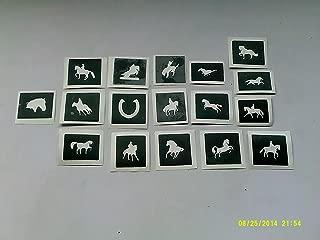glitter stencils for horses