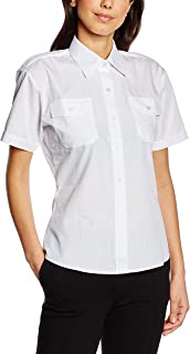 Premier Womens/Ladies Short Sleeve Pilot Blouse/Plain Work Shirt
