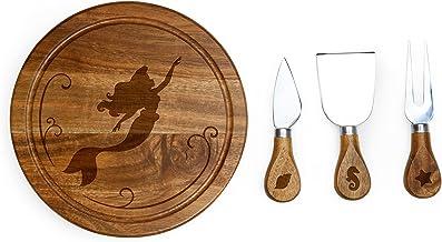 مجموعة ألواح جبن خشبية أكاسيا مع أدوات الجبن من ديزني برينسيس