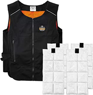 Cooling Vest with 4 Ice Packs, Lightweight, Quick Recharge Cooling, Ergodyne Chill Its 6260