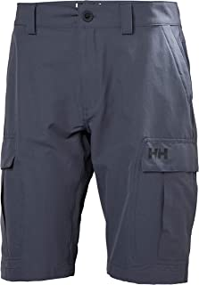 Helly Hansen Qd Cargo Sailing Boating Watersports Shorts Graphite Blue - Easy Stretch Quick Dry