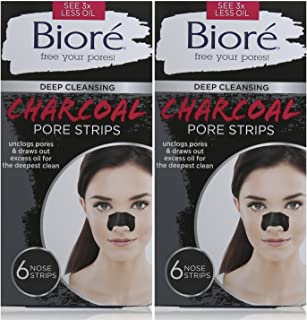 Best Biore Deep Cleansing Pore Strips, Charcoal, 6 Count(Pack of 2) Review