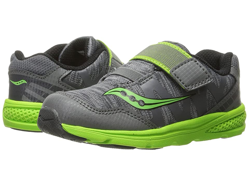 Saucony Kids Baby Ride Pro (Toddler/Little Kid) (Grey/Green) Boys Shoes