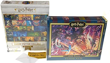 Harry Potter Flying Keys & Collage 1000 Piece Jigsaw Puzzle Bundle - New York Puzzle Company