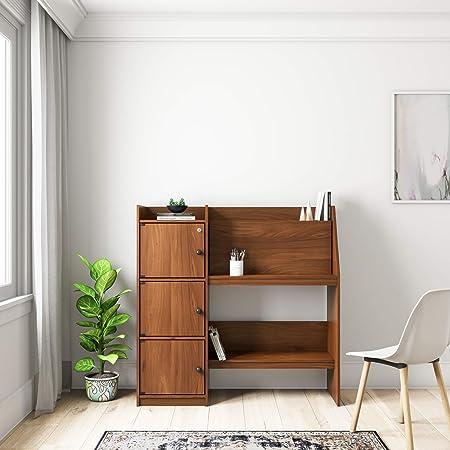 Amazon Brand - Solimo Champ Engineered Wood Study Desk (Walnut finish,wenge)