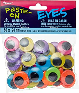 Darice Neon Eyes-Assorted Color Party_Supplies, As Shown