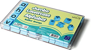 Educational Insights See & Stamp Jumbo Lowercase Alphabet Rubber Stamps, Ages 4 & Up, (30Piece - 26 Letters & 4 Punctuation Marks)