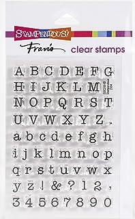 Stampendous 7,6x 10cm Petit Alphabet Machine à écrire en Caoutchouc Parfaitement Clair Timbres Feuille