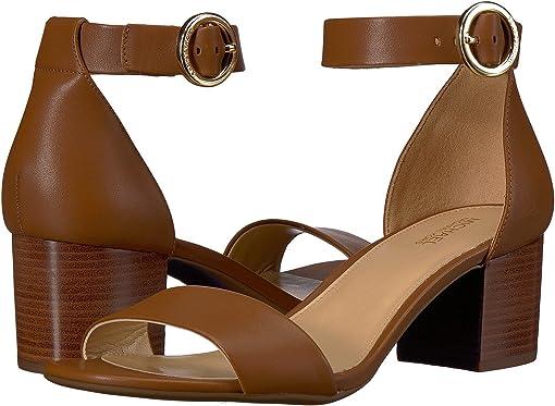 Luggage Vachetta/Stacked Heel