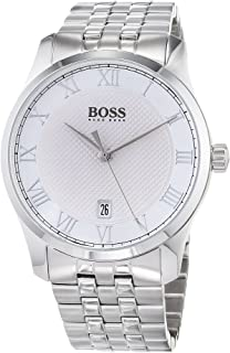 Hugo Boss Men'S White Dial Stainless Steel Band Watch - 1513589