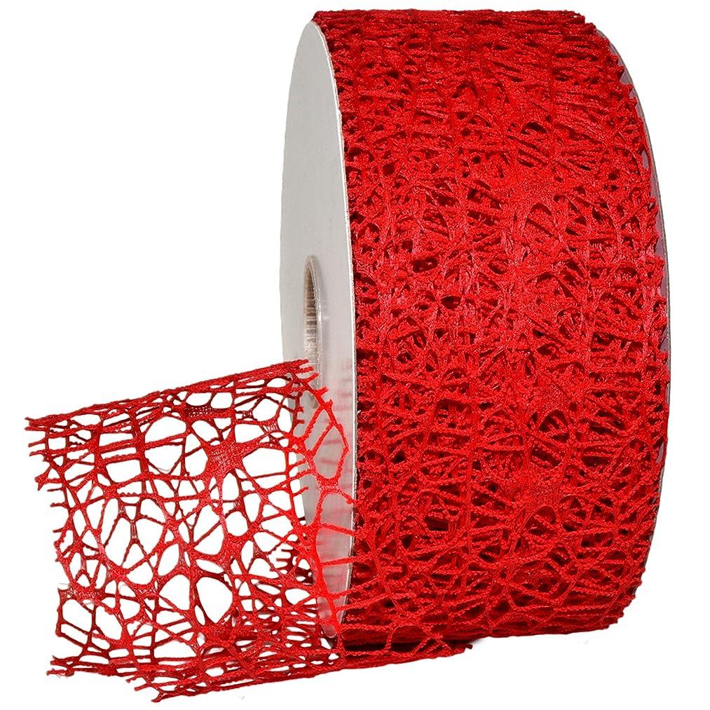 Morex Ribbon 7397 Whimsy Ribbon, Open Weave, 2 1/2