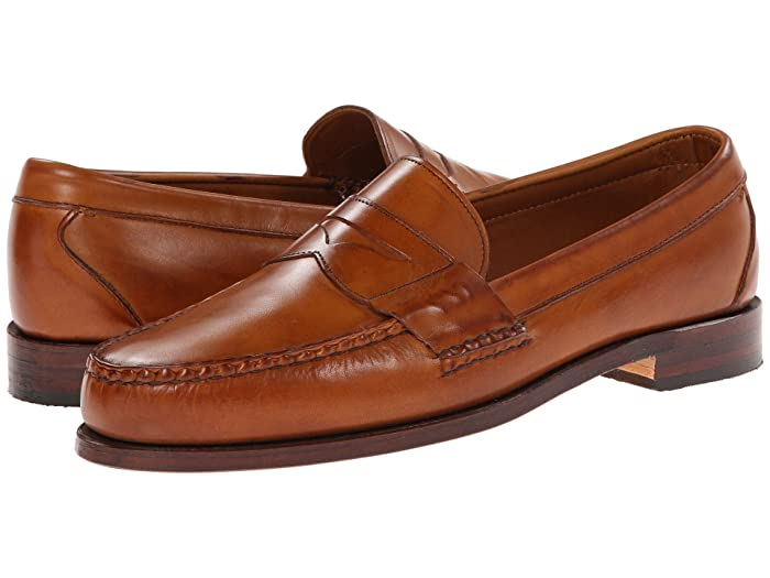Men's 1950s Shoes Styles- Classics to Saddles to Rockabilly Allen Edmonds Cavanaugh Walnut Burnished Mens Shoes $295.00 AT vintagedancer.com