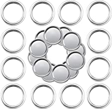 Stainless Steel Regular Mouth Canning Lids and Rings, 12 Count Mason Jar Lids + 12 Count Mason Jar Bands, Split-Type Leak ...