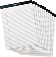 AmazonBasics Legal/Wide Ruled 8-1/2 by 11-3/4 Legal Pad – White (50 Sheet Paper Pads, 12 pack)