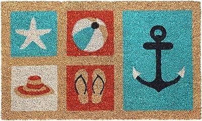 "Rugsmith Multi Beach Machine Tufted Doormat, 18"" x 30"", Natural"