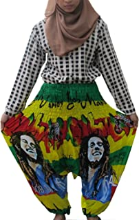 LOVELY BOB MARLEY BEAUTIFUL HILL TRIBE STYLE GENUINE RAYON