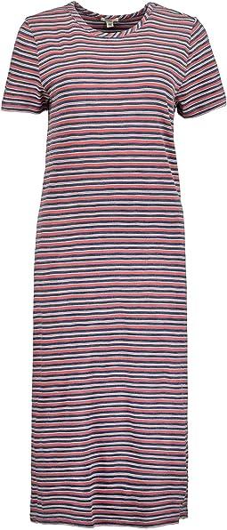 True Blues Midi T-Shirt Dress in Camp Stripe