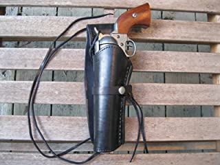 "Western Express – Left – for 6"" Black Smooth Leather Gun Holster (.22 .38 .45 Caliber)"