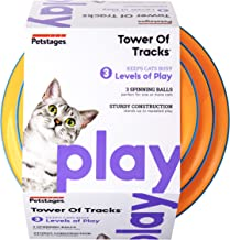 Petstages Cat Tracks Cat Toy – Fun Levels of Interactive Play – Circle Track..