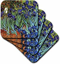3dRose Van Gogh Irises - Ceramic Tile Coasters, Set of 4 (CST_48248_3)