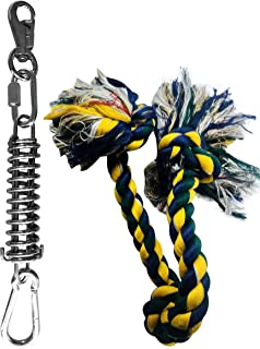 Spring Pole Dog Rope Toys Muscle Builder a Big Spring Pole Kit, Strong Dog Rope Toy and a for Pitbull & Medium to Large Dogs Outdoor Hanging Exercise Rope Pull & Tug of War Toy Bully