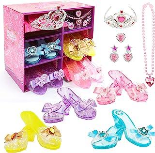 Girls Princess Dress up Shoes Set Hodola Girls Play Shoes...