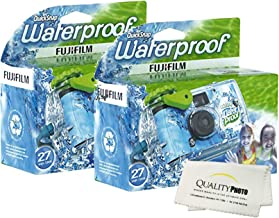 Fujifilm Quick Snap Waterproof 27 exposures 35mm Camera 800 Film, 1 Pack + Quality Photo Microfiber Cloth (2 Pack)
