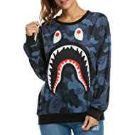 ACEVOG Women's Long Sleeve Pullover Hooded Cute 3D Galaxy Printing Sweatshirts Casual Loose...