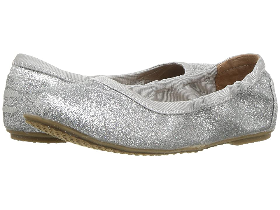 TOMS Kids Ballet Flat (Little Kid/Big Kid) (Silver Iridescent Glimmer) Girls Shoes