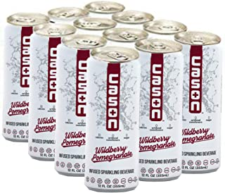 CASON Beverage | Wildberry Pomegranate Superinfusion | Naturally Flavored Sparkling Water Drink | Healthy Alternative to Pop, Soda, Juice | Gluten and Sugar Free, Low Calorie, Diabetic, 12 Pack