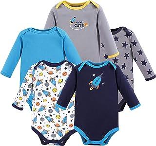 Luvable Friends Unisex Baby Long Sleeve Cotton Bodysuits