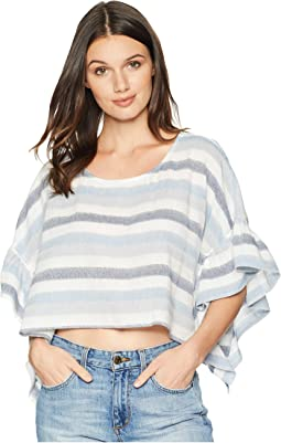 Ruffle Sleeve Rectangle Top
