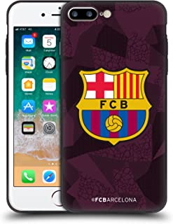 Official FC Barcelona Third 2017/18 Crest Kit Skinny Fit Hybrid Clear Case Compatible for iPhone 7 Plus/iPhone 8 Plus