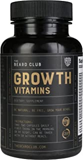 Beard Growth Vitamins | The Beard Club | #1 Selling Beard & Hair Growth Supplement in America | Get a Fuller and Thicker Beard