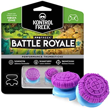 KontrolFreek FPS Freek Battle Royale for Xbox One and Xbox Series X Controller | Performance Thumbsticks | 2 High-Rise Convex (Domed) | Purple