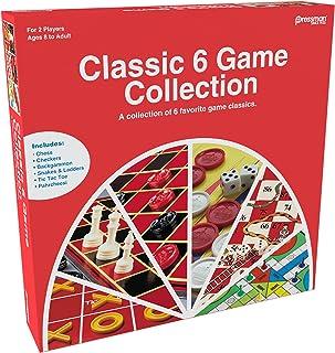 Pressman Classic 6 Game Collection, multicolor, Goliath, 101001, classic 6 in 1 games