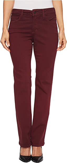 NYDJ Petite - Petite Marilyn Straight Jeans in Deep Currant