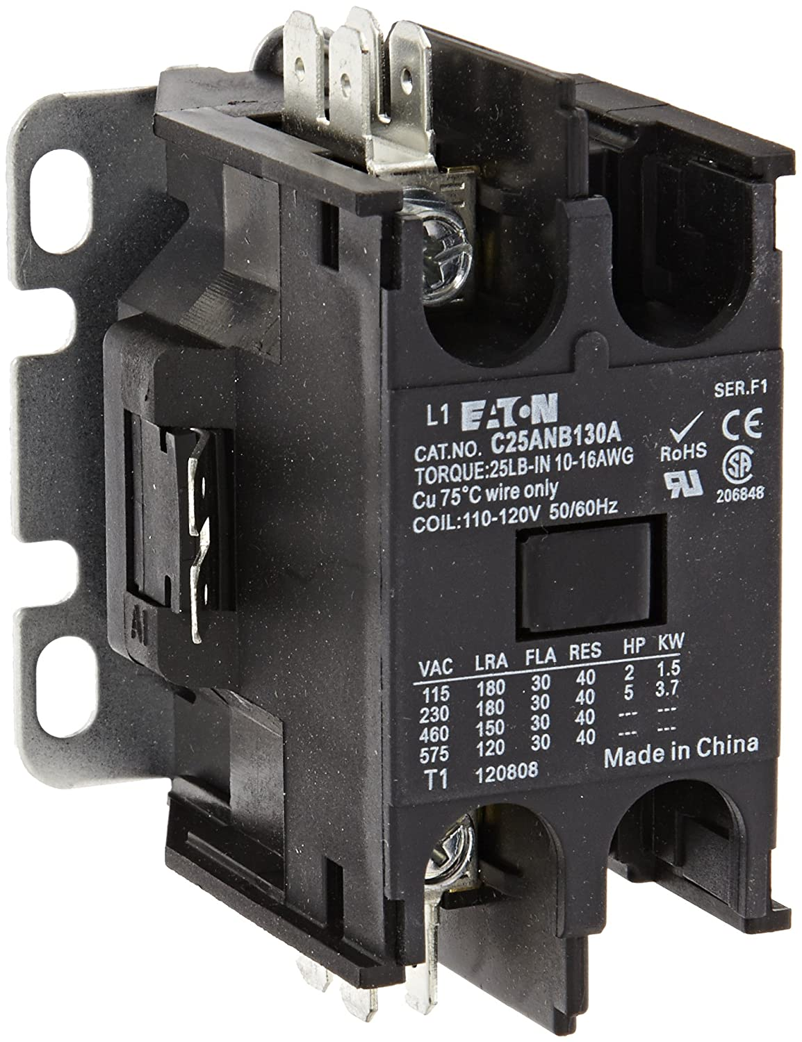 Eaton C25ANB130A Cash special price Al sold out. Compact Definite Purpose 30A Contactor Inducti