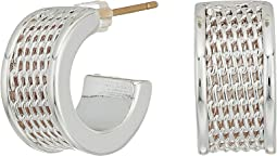 LAUREN Ralph Lauren Mesh Huggie Hoop Earrings