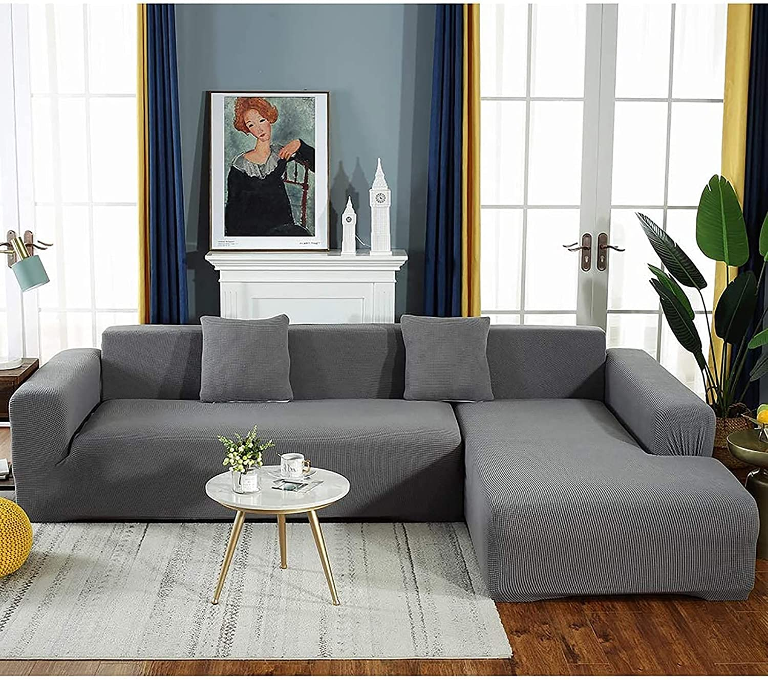 HJlife L Shape Sofa New item Covers 1 2 Seater 4 Thick Co Luxury 3 National products Couch