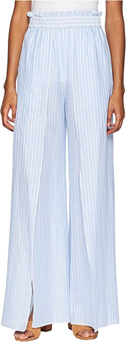 Striped Cotton Fisherman Pant