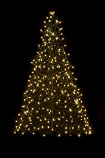 5' Crab Pot Tree w/350 Mini Lights - Clear