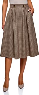 oodji Ultra Women's Checkered Midi Skirt